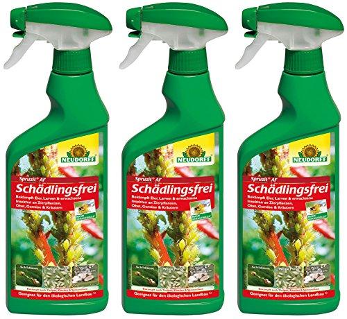 3 x 500 ml Neudorff Spruzit AF Schädlingsfrei Anwendungsfrei