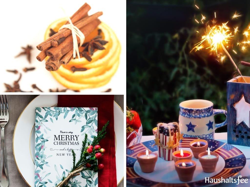 Collage Bastelideen für Weihnachten