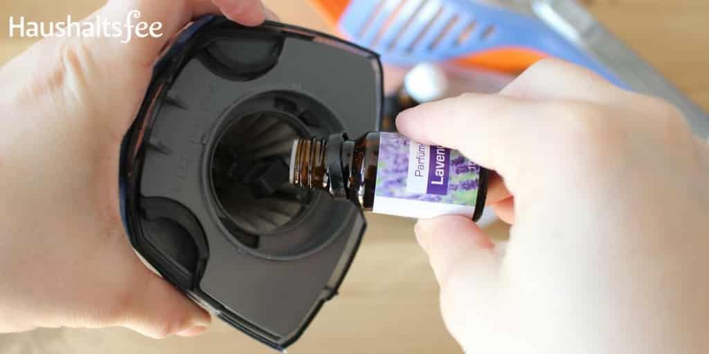 ätherisches Öl in Staubsaugerfilter