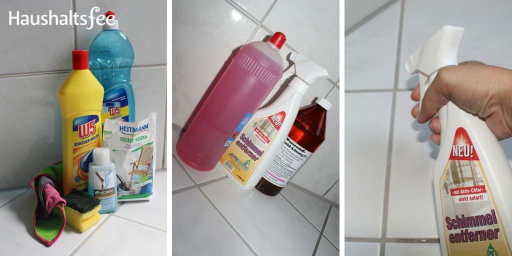 Schimmel Fugen entfernen mit Reinigern und Hausmitteln