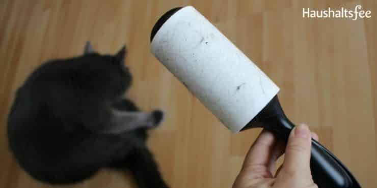 Katze in der Wohnung: Fusselrolle gegen Katzenhaare