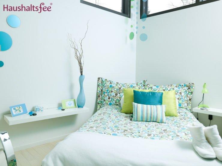 Schlafzimmer in Pastelfarben