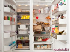 gut gefüllter Kühlschreink