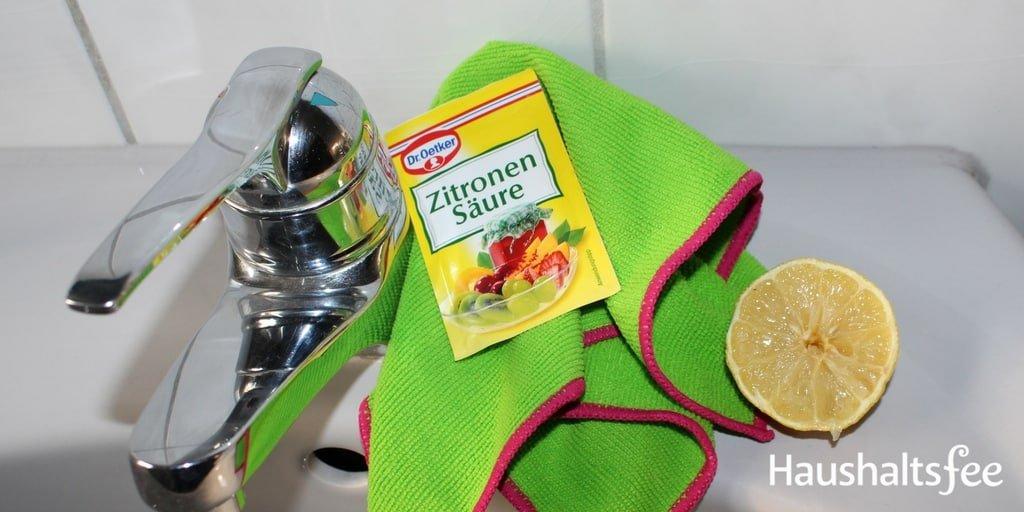 Zitronensäure im Haushalt: Entkalken der Armaturen in Bad und Küche