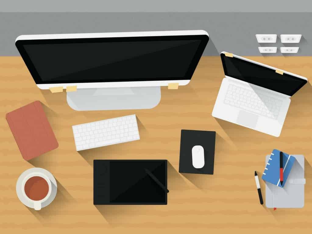 beispielhafter Schreibtisch