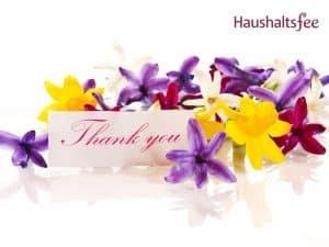 Danke mit Blumen