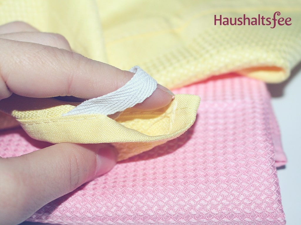 Mikrofasertuch in rosa und gelb