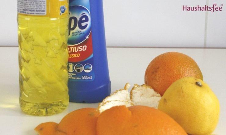 Orangenschalen im Haushalt: Reiniger selbst herstellen