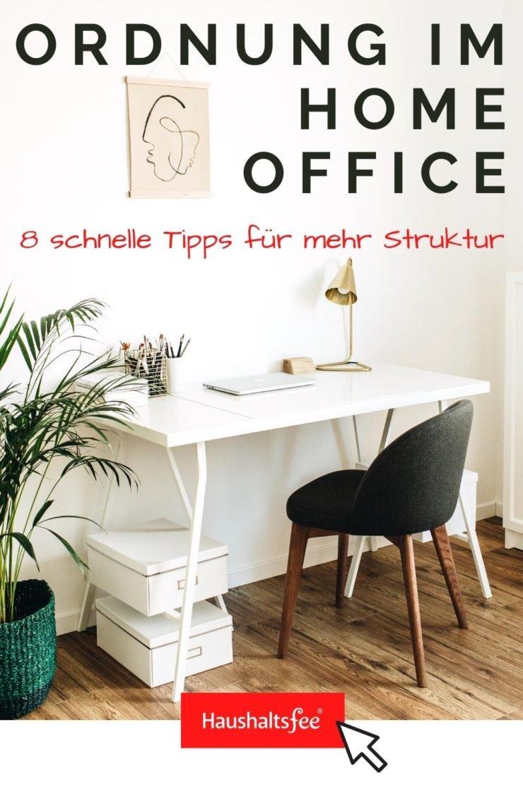 Ordnung im Home Office beginnt beim aufgeräumten Schreibtisch