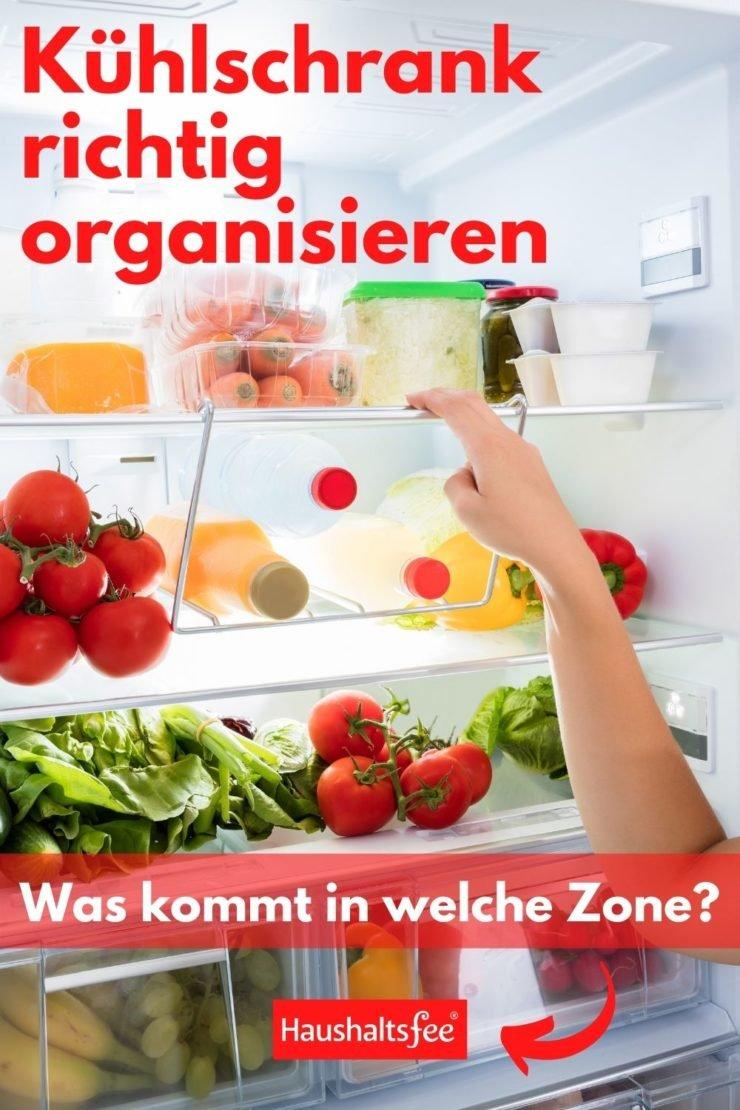 organisierter Kühlschrank