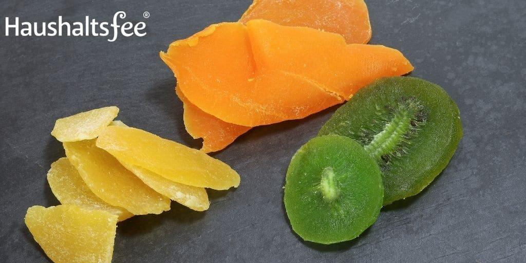 Trocknen von Obst zum haltbar machen
