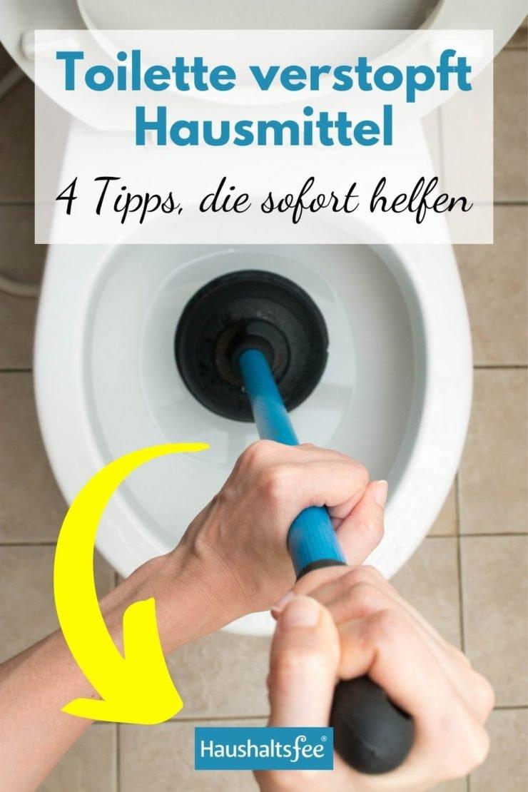 Toilette verstopft Hausmittel